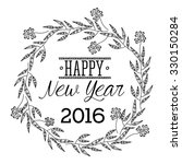 happy new year 2016 design ... | Shutterstock .eps vector #330150284
