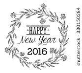 happy new year 2016 design ... | Shutterstock .eps vector #330150284