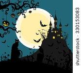 halloween background vector   Shutterstock .eps vector #330153083