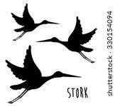 Cute Stork Design  Vector...