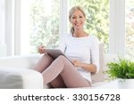 portrait of cheerful middle age ... | Shutterstock . vector #330156728