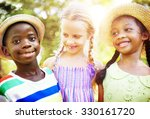 children friendship...   Shutterstock . vector #330161720