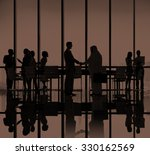 business people meeting... | Shutterstock . vector #330162569