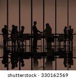 business people meeting... | Shutterstock . vector #330162569