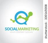 social marketing logo marketing ... | Shutterstock .eps vector #330165008