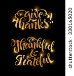 give thanks  thankful and... | Shutterstock .eps vector #330165020