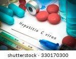 hepatitis c   diagnosis written ... | Shutterstock . vector #330170300