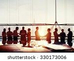 back lit business people... | Shutterstock . vector #330173006