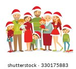 big christmas family portrait | Shutterstock .eps vector #330175883