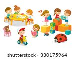 children's activity in the... | Shutterstock .eps vector #330175964