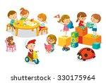 children's activity in the... | Shutterstock .eps vector #330175964