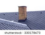 old brick chimney on roof | Shutterstock . vector #330178673