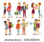 pregnant women  gays  couples... | Shutterstock .eps vector #330180044