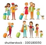 people travelling with family | Shutterstock .eps vector #330180050