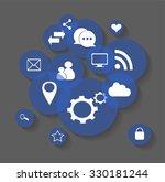 flat social media icons vector...