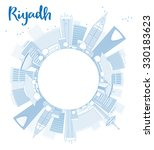 outline riyadh skyline with... | Shutterstock .eps vector #330183623