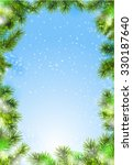 christmas frame with winter... | Shutterstock .eps vector #330187640