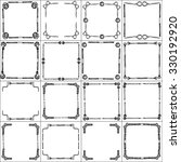frames set of hand drawn... | Shutterstock .eps vector #330192920