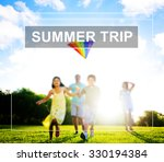 summer holiday relaxation... | Shutterstock . vector #330194384