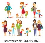 young people  couple and family ... | Shutterstock .eps vector #330194873