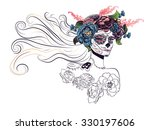 day of the dead illustration... | Shutterstock .eps vector #330197606