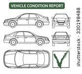 car condition form  vehicle... | Shutterstock .eps vector #330198488