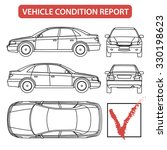 car condition form  vehicle... | Shutterstock .eps vector #330198623