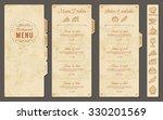 a classic restaurant menu... | Shutterstock .eps vector #330201569