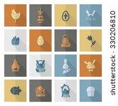 celebration easter icons. .... | Shutterstock . vector #330206810