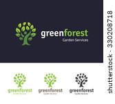 Green Forest  Tree Logo...