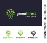 green forest logo template. | Shutterstock .eps vector #330208718