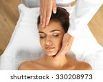 young woman in beauty spa salon ... | Shutterstock . vector #330208973