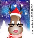 christmas card with santa deer  ...   Shutterstock .eps vector #330210056