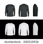 long sleeved t shirt templates...   Shutterstock .eps vector #330210926
