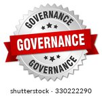governance 3d silver badge with ... | Shutterstock .eps vector #330222290