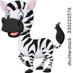 Stock vector cute baby zebra posing isolated on white background 330233576
