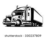 american truck trailer black...   Shutterstock .eps vector #330237809