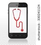 healthcare concept  smartphone... | Shutterstock . vector #330241124