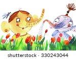 elephants. watercolor... | Shutterstock . vector #330243044
