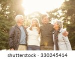 portrait of a smiling family on ... | Shutterstock . vector #330245414