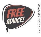 free advice retro speech bubble | Shutterstock .eps vector #330247640