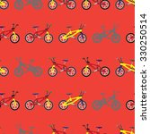 bikes.  simple seamless pattern.... | Shutterstock .eps vector #330250514