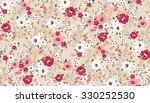 seamless cute flower vector... | Shutterstock .eps vector #330252530