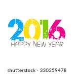 creative happy new year... | Shutterstock . vector #330259478