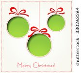 merry christmas paper greeting... | Shutterstock . vector #330263264