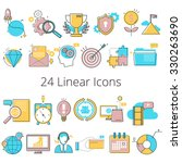 set of line modern color icons... | Shutterstock .eps vector #330263690