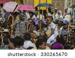 Small photo of GONDER, AMHARA/ETHIOPIA, JANUARY 20 2015: [Timkat festival, celebration of epiphany. This feast features blessing of water and solemn processions with the sacred Tabot.].