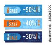 winter sales banners  seasonal... | Shutterstock .eps vector #330269000