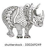 Rhino Zentangle Stylized ...