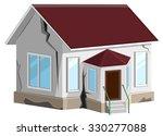 house destroyed. cracks in... | Shutterstock .eps vector #330277088
